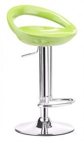 Tickle Barstool in Green Finish Zuo Modern 300025 (Shipping Included)