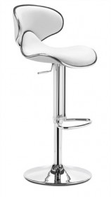 Fly Barstool in White Finish Zuo Modern 300131 (Shipping Included)