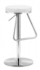 Soda Barstool White - Zuo Modern 300251 (Shipping Included)