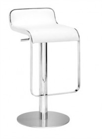 Equino Barstool in White Finish Zuo Modern 301113 (Shipping Included)