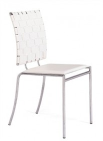 Set of 4 - Criss Cross Chair in White Finish Zuo Modern 333011 (Shipping Included)