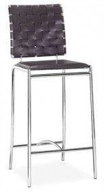 Set of 2 Criss Cross Counter Stool in Espresso Finish Zuo Modern 333060 (Shipping Included)