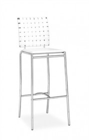 Set of 2 - Criss Cross Barstool in White Finish Zuo Modern 333071 (Shipping Included)