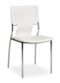 Set of 4 - Trafico Side Chair in White Finish Zuo Modern 404132 (Shipping Included)